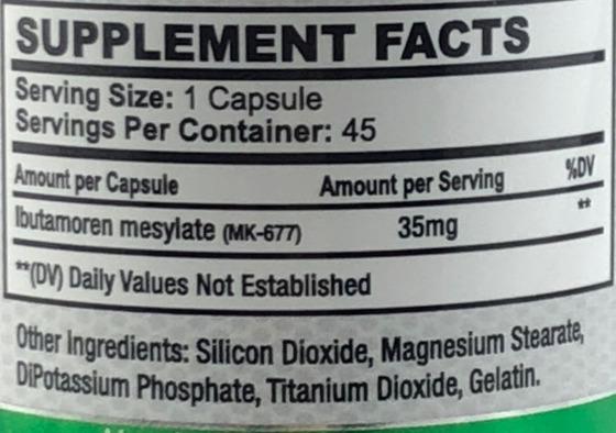 Bio-Gen Ibutamorin MK-677 35mg 45 caps