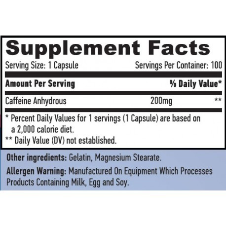 Caffeine 200 mg 100 caps