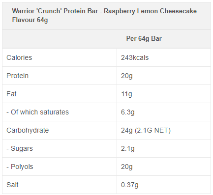 Crunch high protein, low sugar bar 12 X 64g bundle