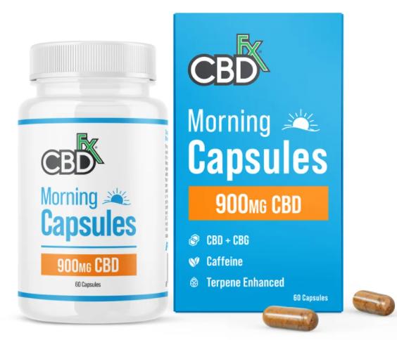 Morning Capsules 900mg CBD 60 caps