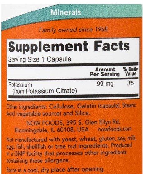 Potassium Citrate 99 mg 180 caps