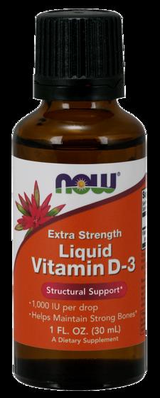NowFoods Extra Strength Liquid Vitamin D-3 30ml