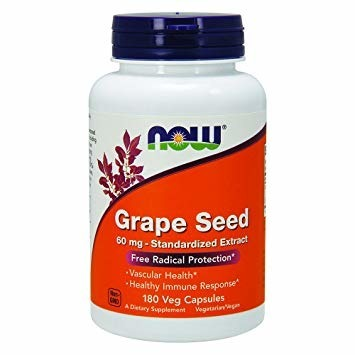 NowFoods Grape Seed Extract 60 mg 180 caps