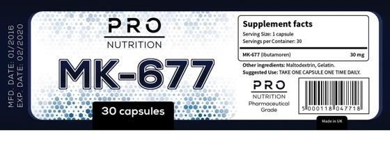 Pro Nutrition Mk-677 30 caps